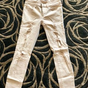 American eagle distressed super stretch jeggings